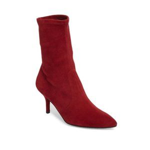 STUART WEITZMAN Cling Burgundy Suede Leather Boots